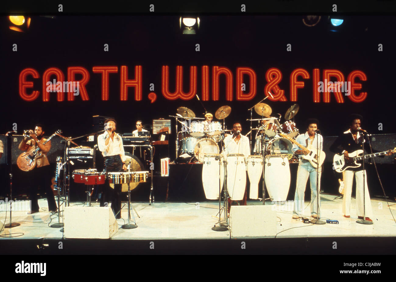 EARTH WIND & FIRE  US rock group about 1978. Photo Jeffrey Mayer - Stock Image