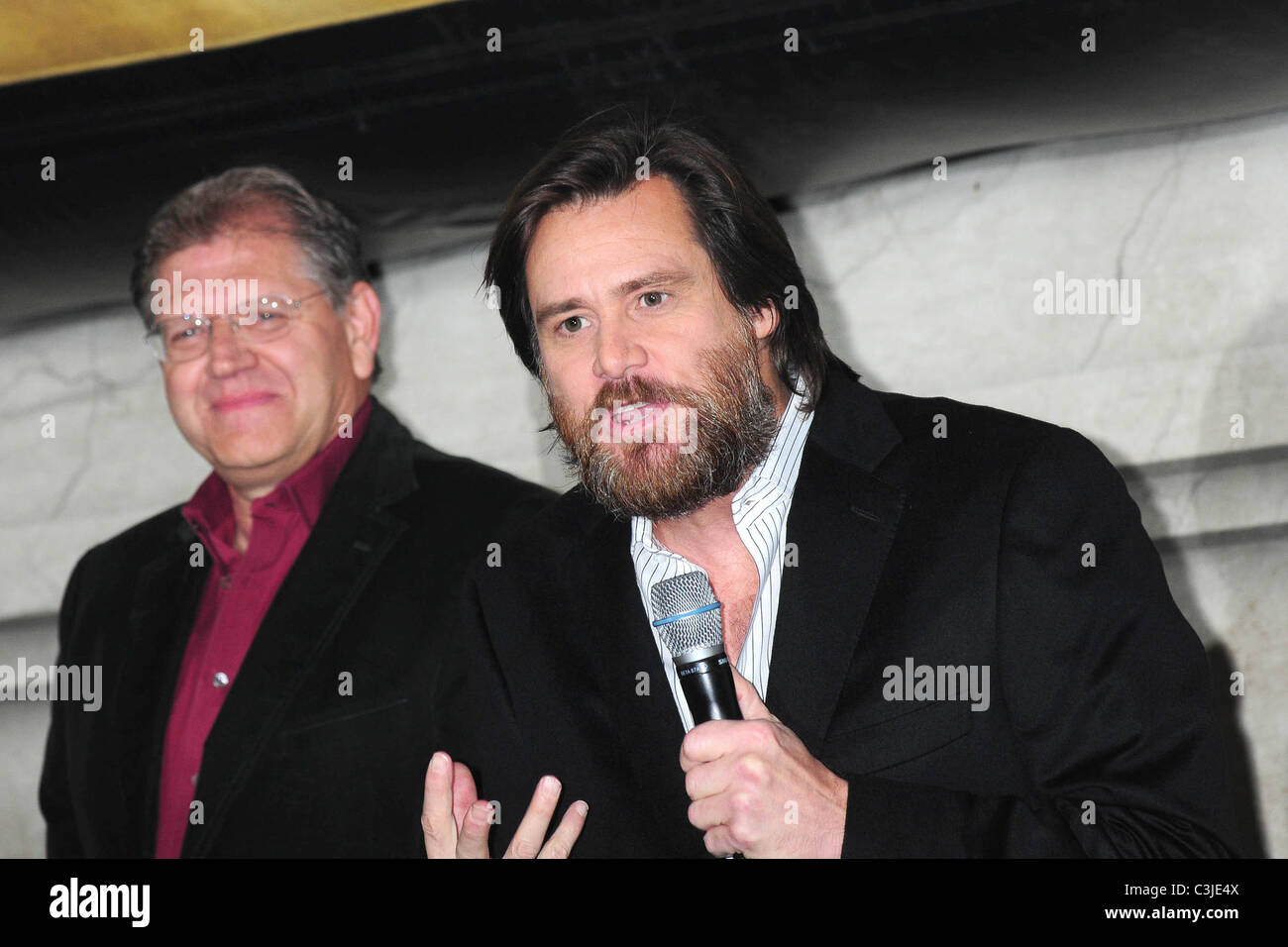 A Christmas Carol Nyc.Robert Zemeckis And Jim Carrey Disney S A Christmas Carol