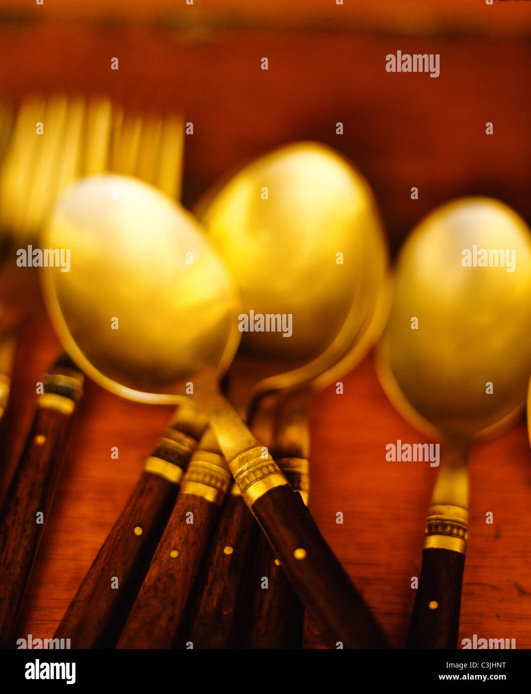 Forks and Spoons - Stock Image