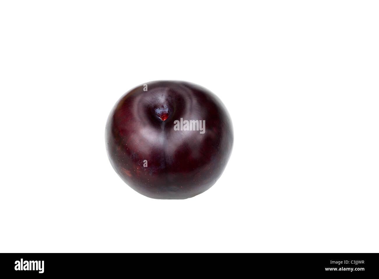 Close-up studio shot of organic cherry - Stock Image