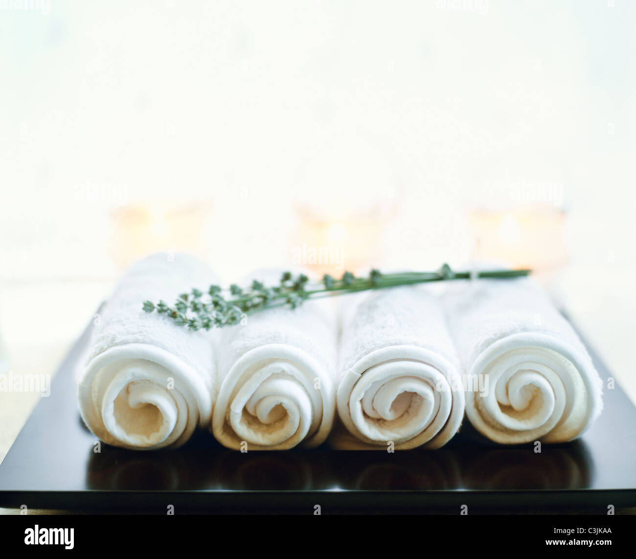 Spa Towels By Kassafina: Spa Candles Stock Photos & Spa Candles Stock Images