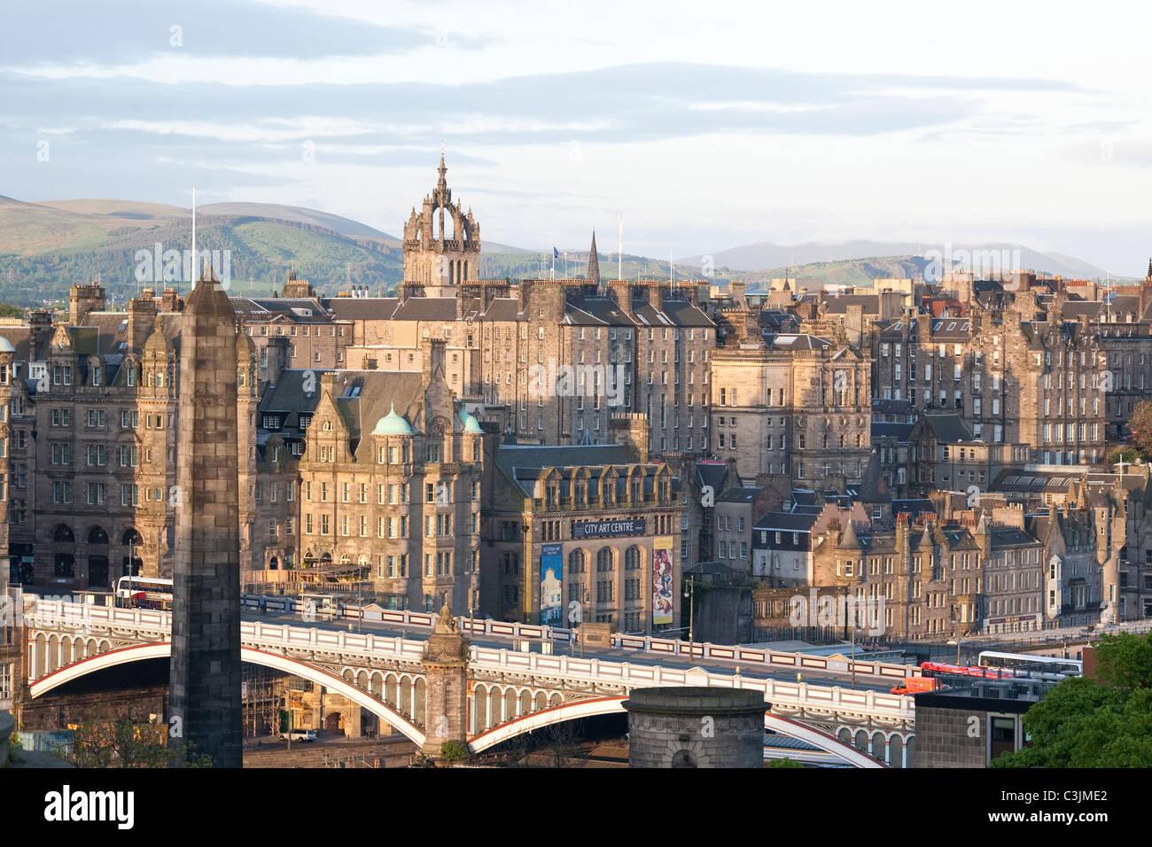 North Bridge The Old Town, Edinburgh, Scotland, United Kingdom - Stock Image