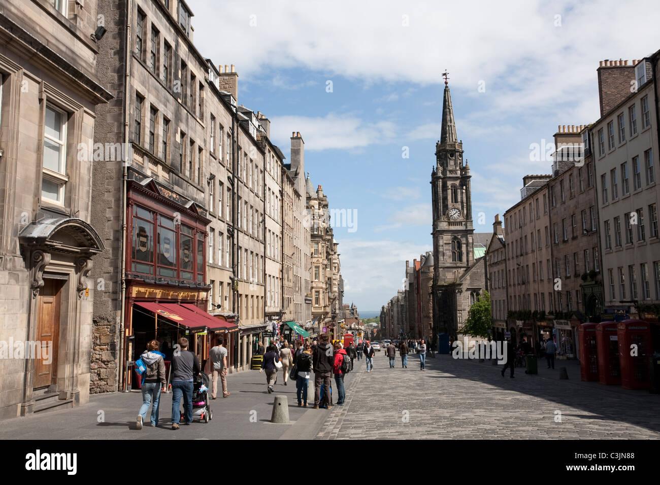 The Royal Mile, Edinburgh, Scotland - Stock Image