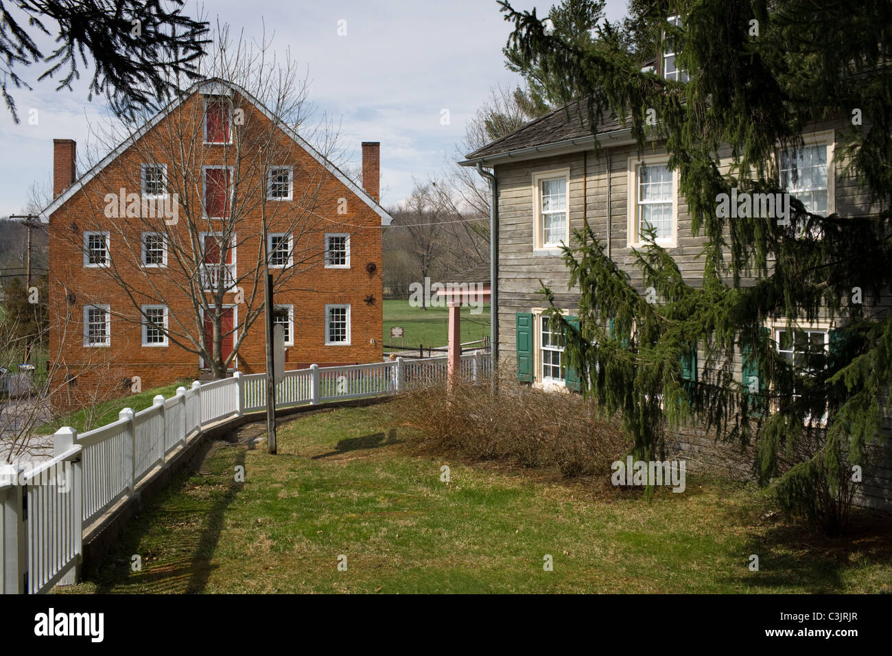 Union Mills, 1797, Carroll County, Maryland, where Confederate Troops stayed on their way to Gettysburg - Stock Image