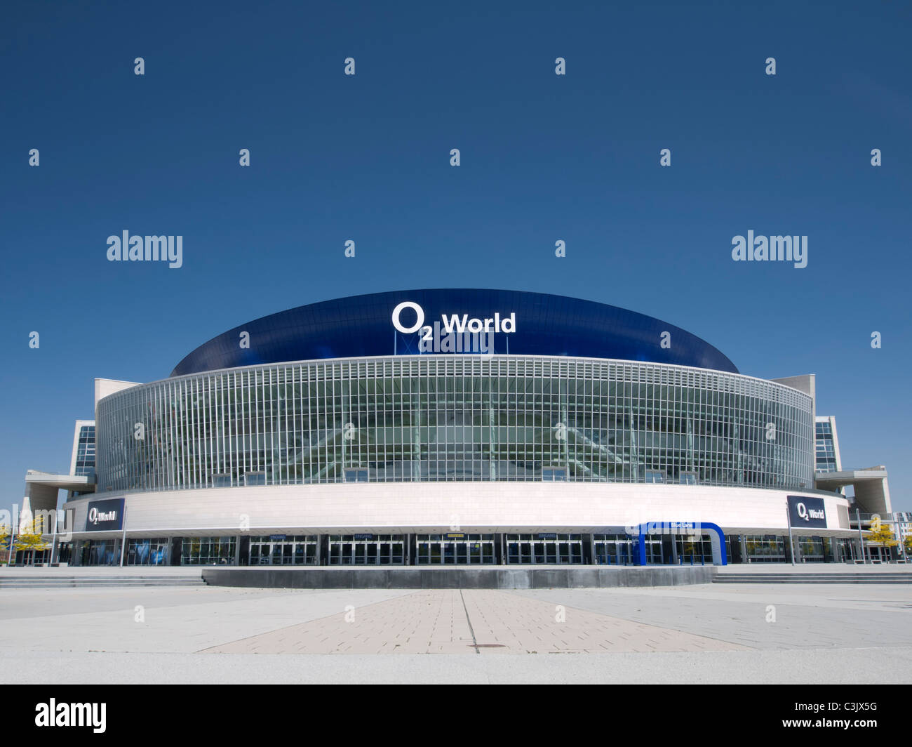 The O2 World Arena in Friedrichshain in Berlin Germany - Stock Image