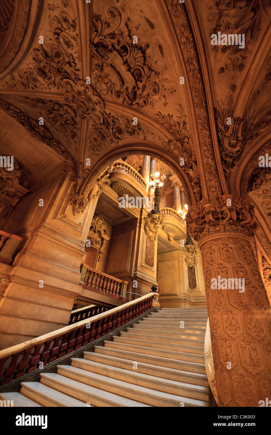 Interior of the Opera Garnier, Paris - Stock Image