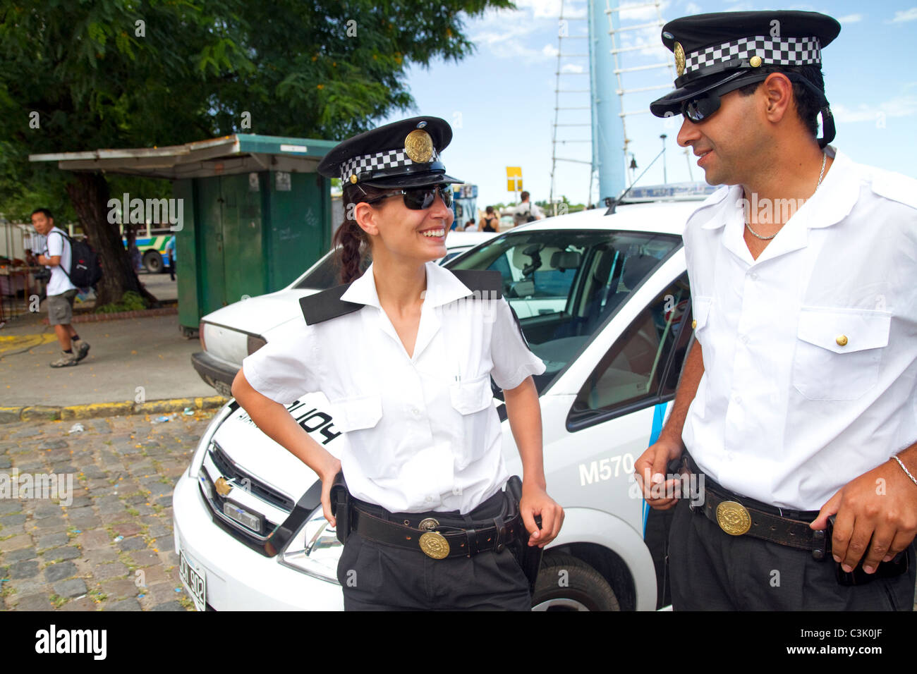 Metropolitan police of Buenos Aires, Argentina. - Stock Image