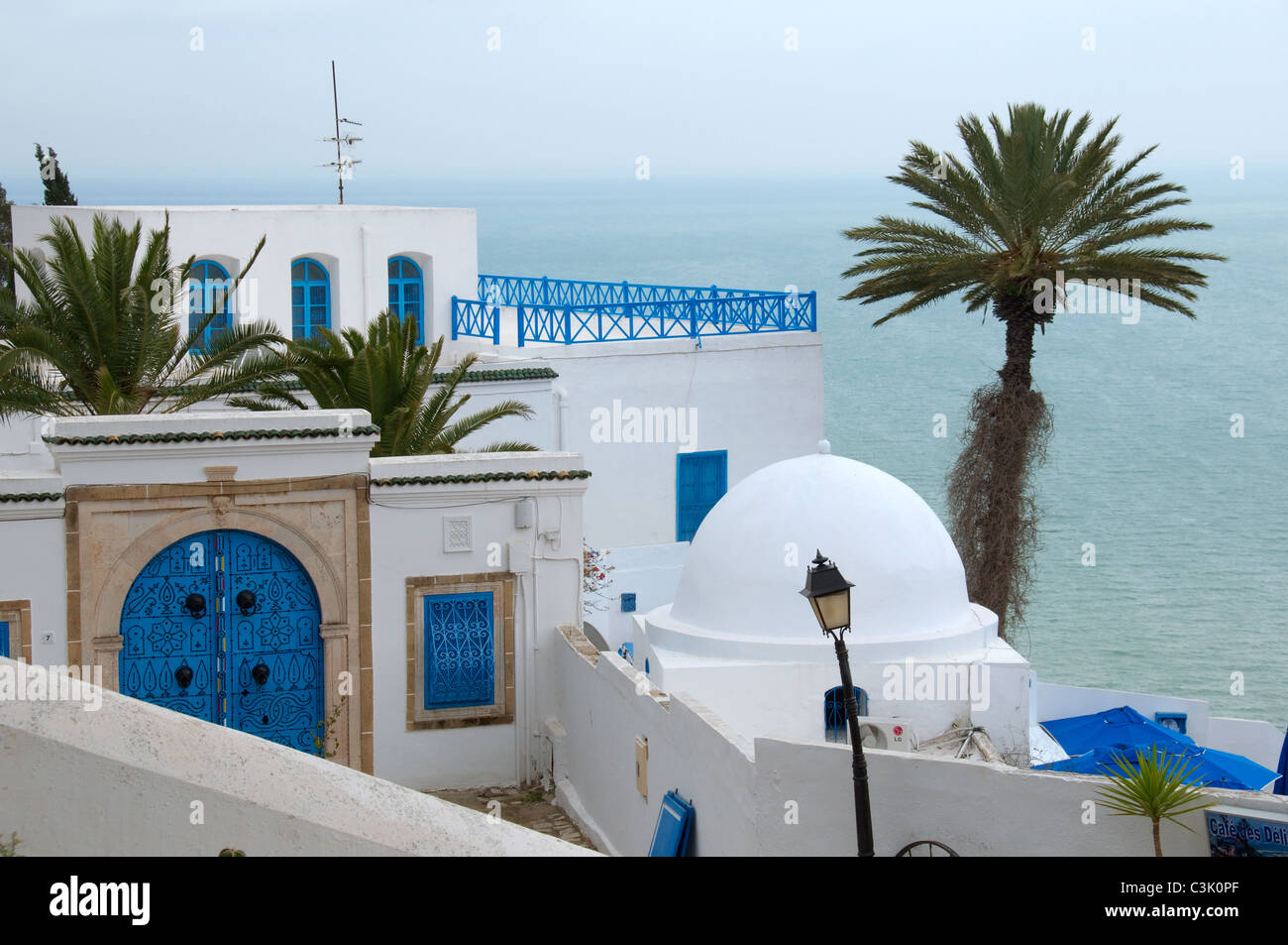 Sidi Bou Said (white-blue city) - Stock Image