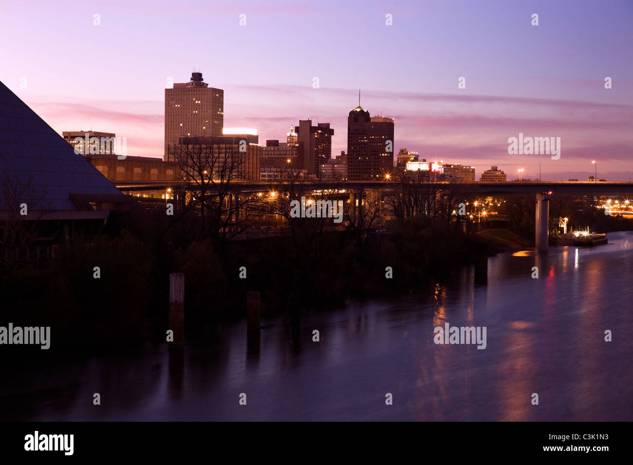 Downtown of Memphis, Tennessee, USA - Stock Image
