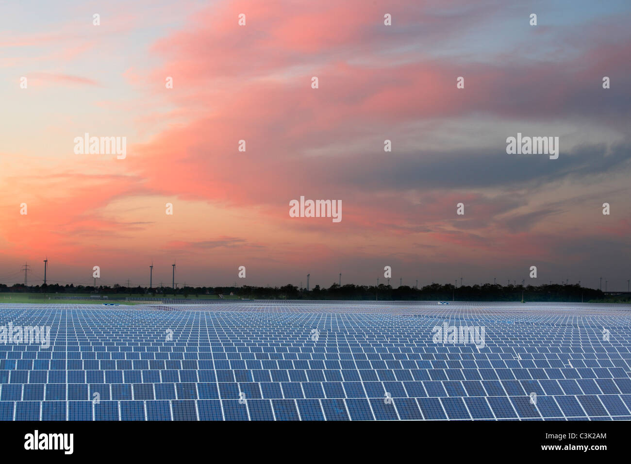 photovoltaic solar power plant - Stock Image