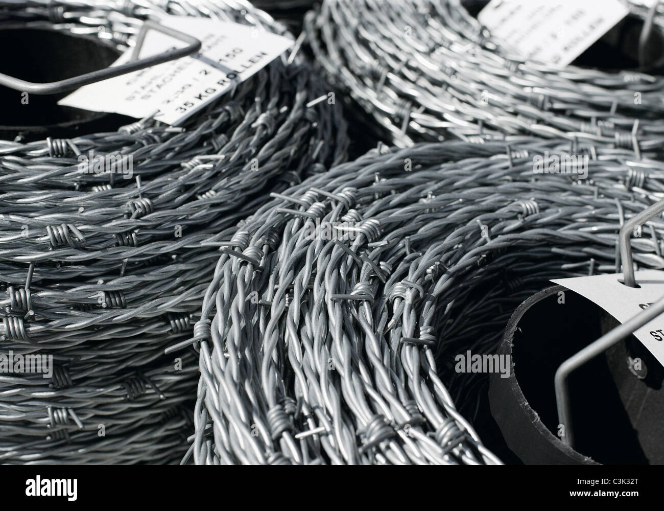 Coils of barb wire, close up Stock Photo: 36684224 - Alamy