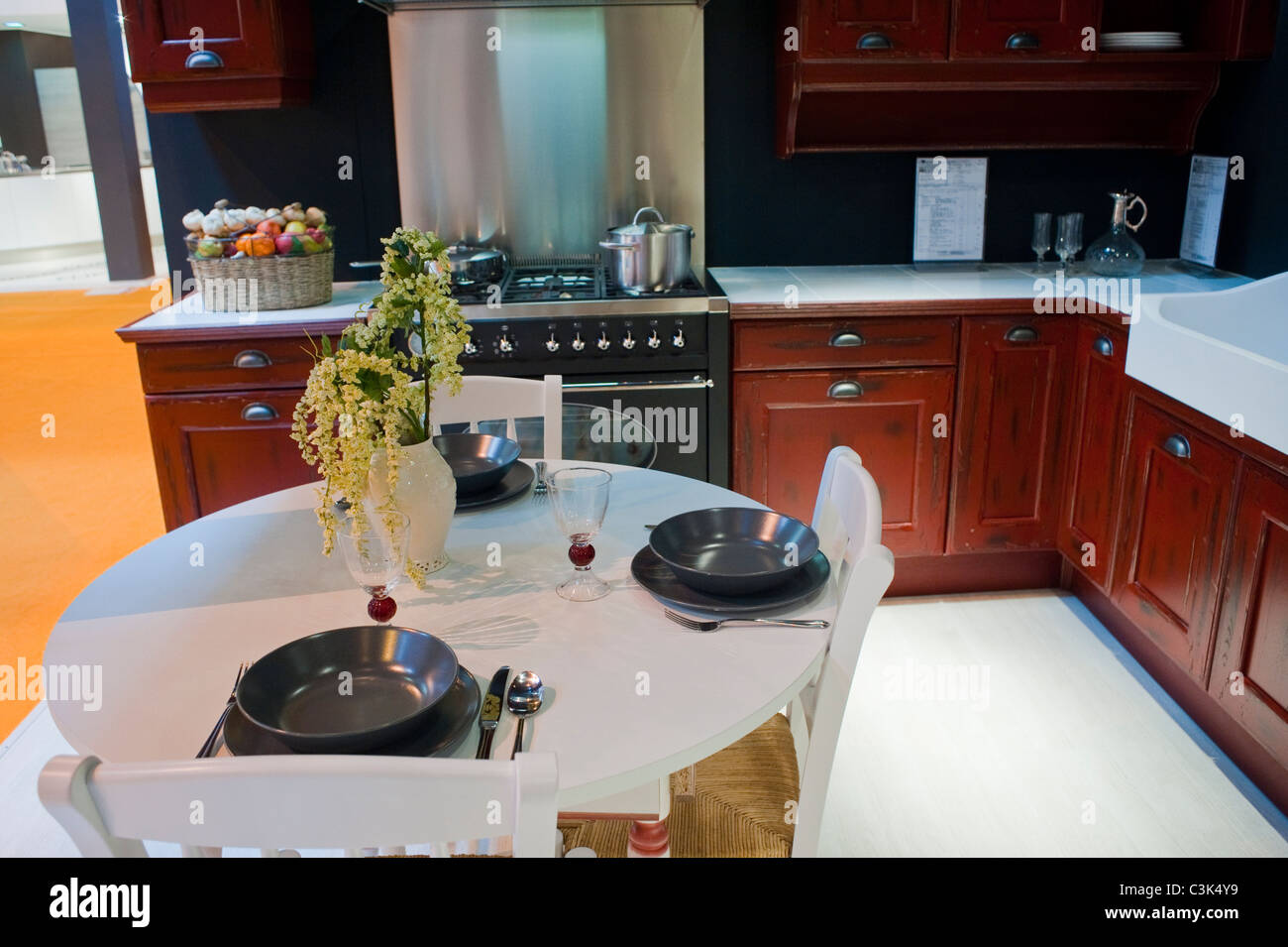Cuisine Schmidt Foire De Paris paris france modern kitchen design stock photos & paris