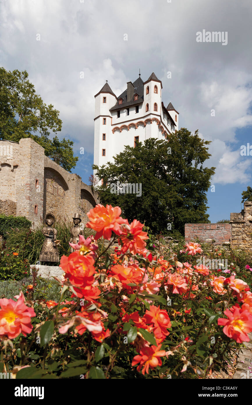 Europe, Germany, Hesse, View of electoral castle of eltville Stock Photo