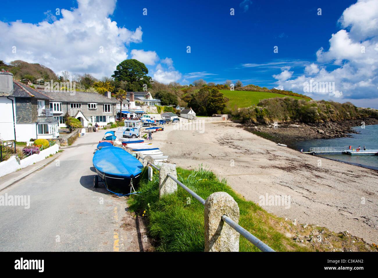 The Village Of Helford Passage Cornwall England UK