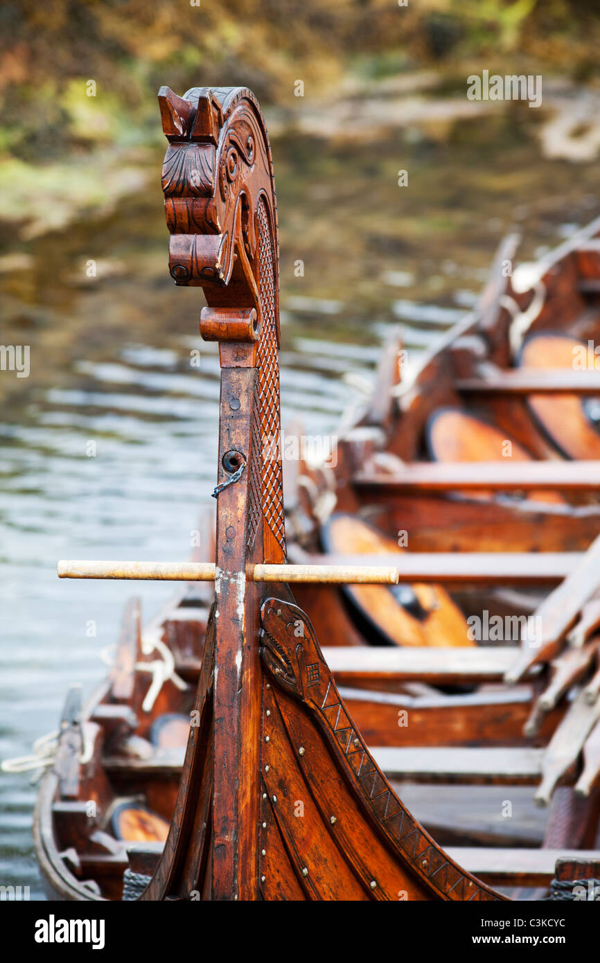 Part of historic boat - Stock Image