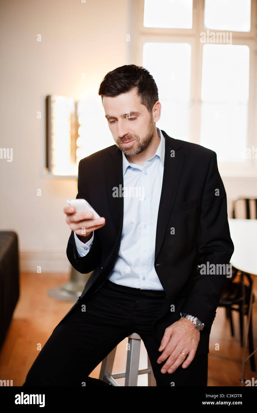 Man in office - Stock Image