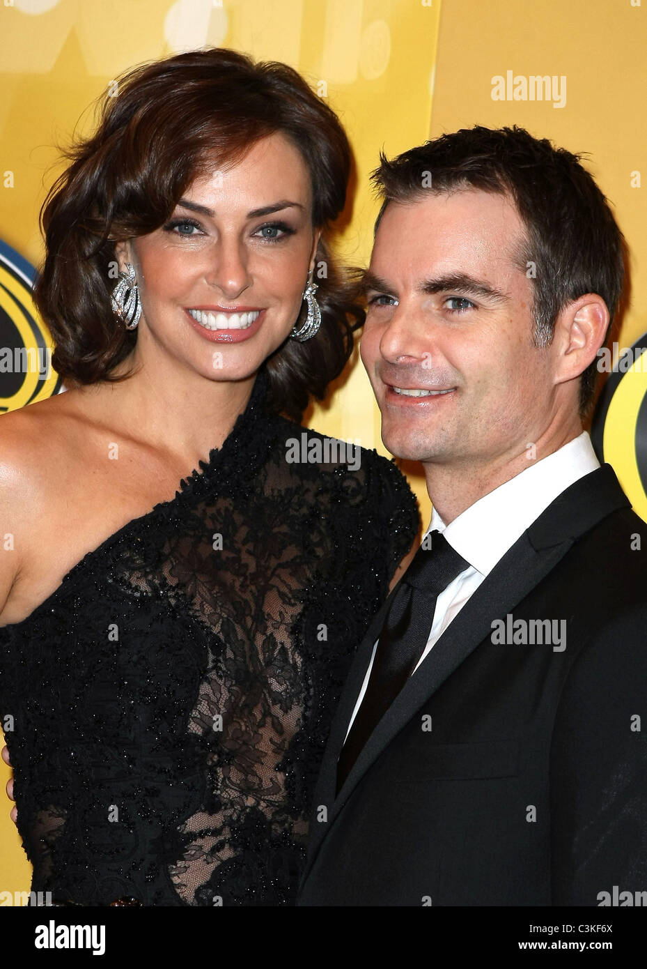 Jeff Gordon And His Wife Ingrid Vandebosch Nascar Sprint Cup Series Stock Photo Alamy