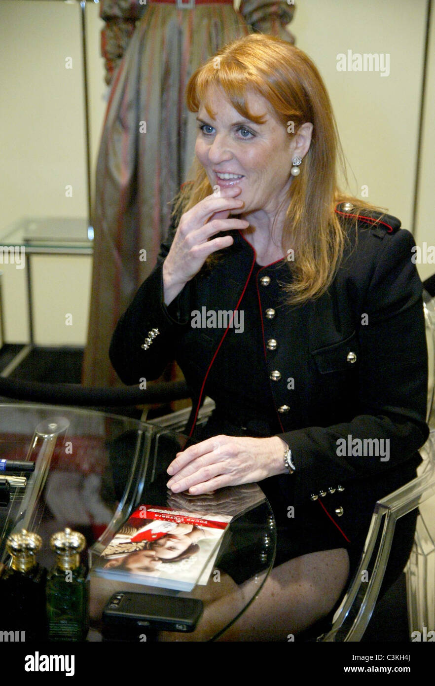 Sarah Ferguson, Duchess of York in-store appearance and autograph ...