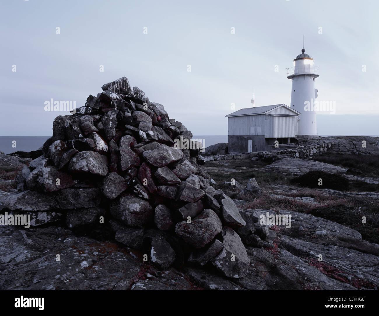 Scenic lighthouse - Stock Image