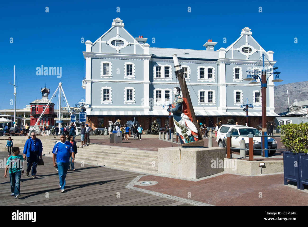 African Trading Port building at V&A Waterfront Cape Town South Africa - Stock Image