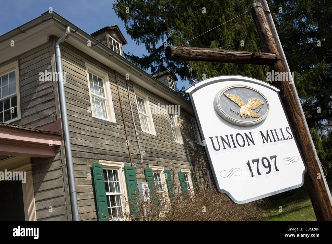 Union Mills, Carroll County, Maryland, where Confederate Troops stayed on their way to Gettysburg - Stock Image