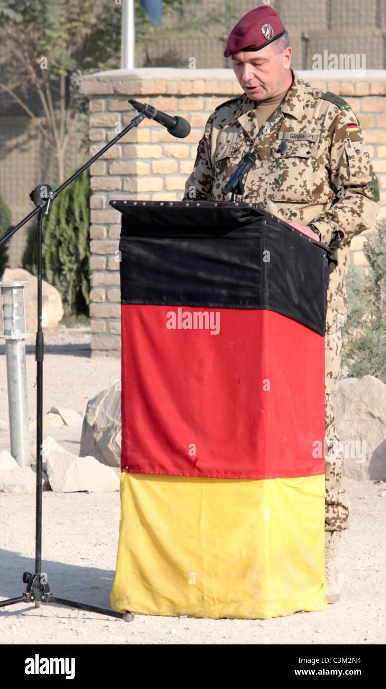 grube, chief commandander of the german army in Kunduz, afghanistan. - Stock Image