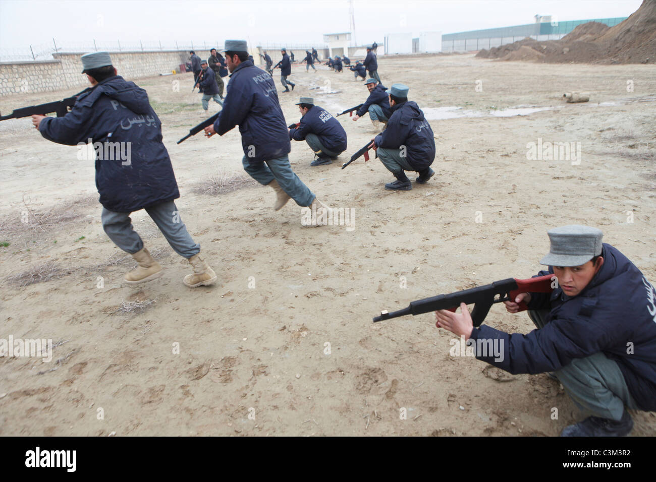 Police training centre in Kunduz by German army - Stock Image