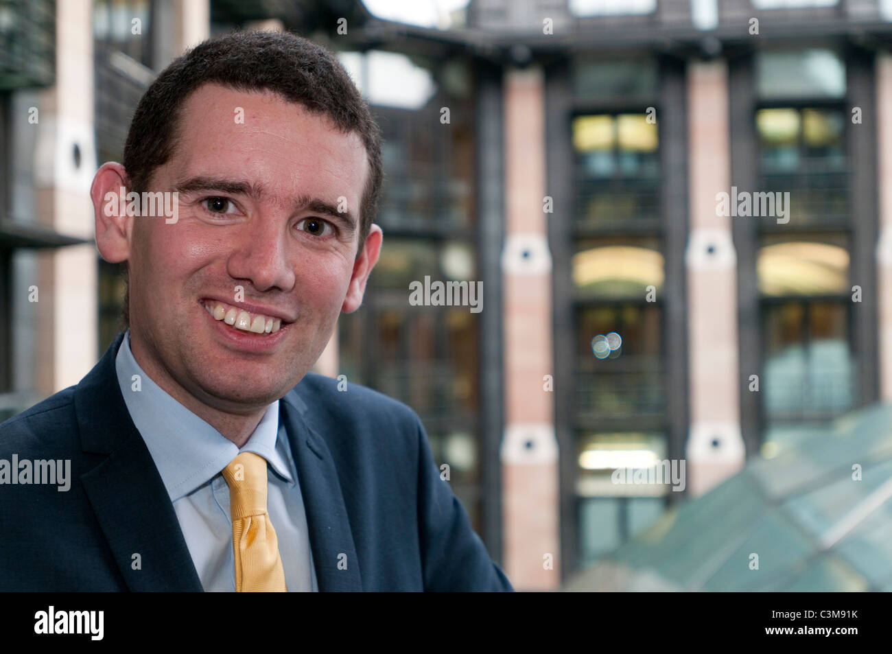 Liberal Democrat MP for Norwich South,Simon Wright at Portcullis House, London - Stock Image