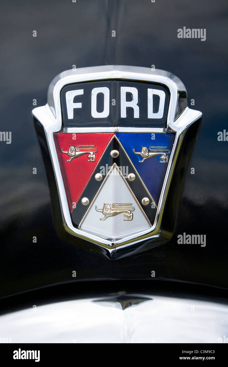 Classic Ford Usa Car Badge Radiator Grille Logo Insignia On A