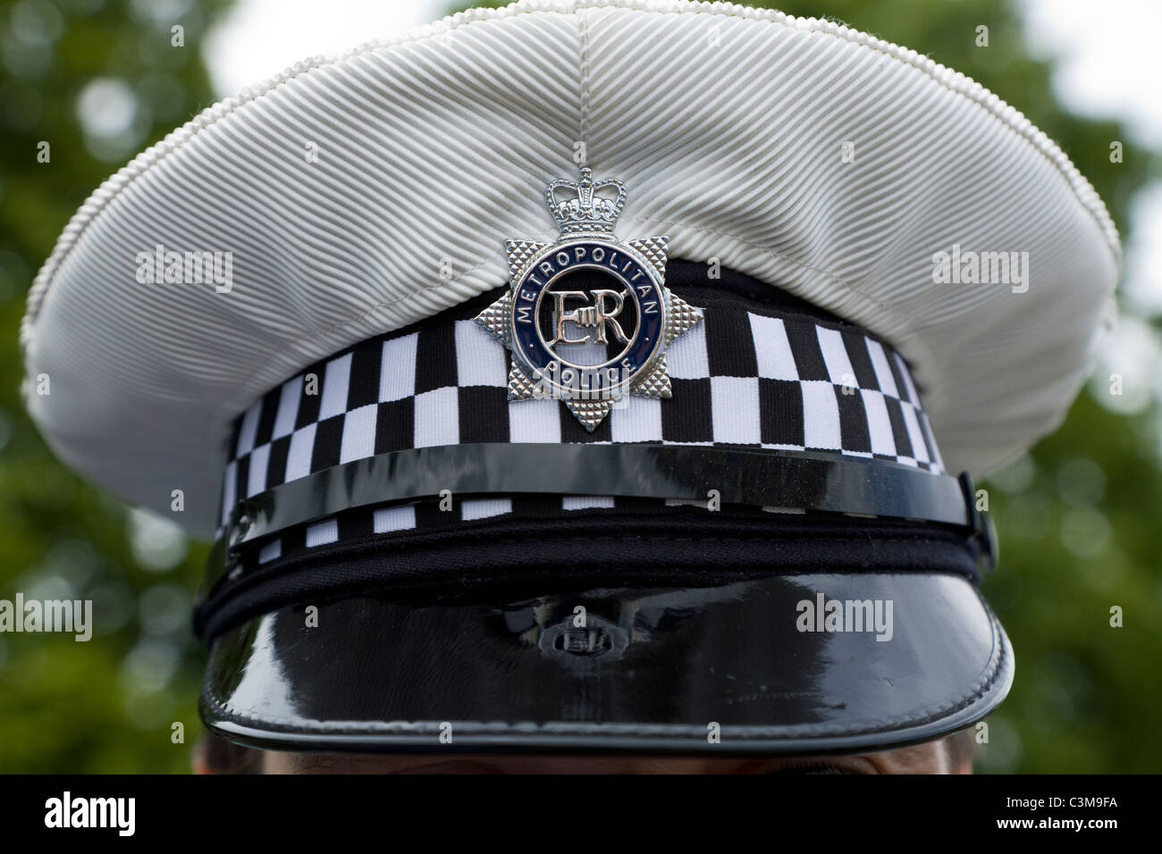 Traffic police   London Metropolitan   Met traffic policeman s hat with  white cover 165568262c83