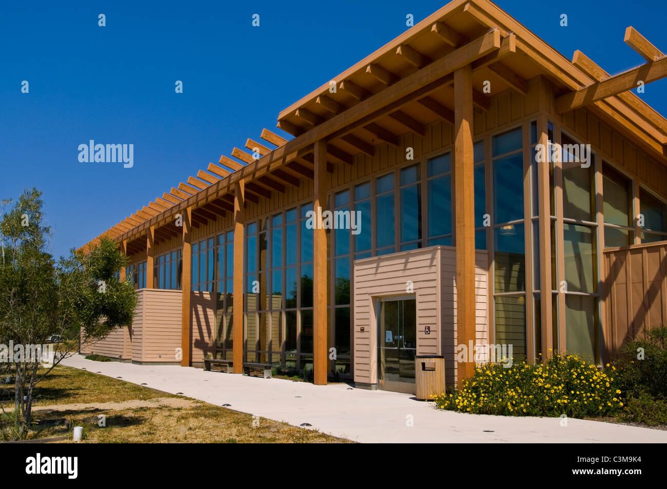 visitor center, La Purisma Mission State Historical Park, near Lompoc, California - Stock Image