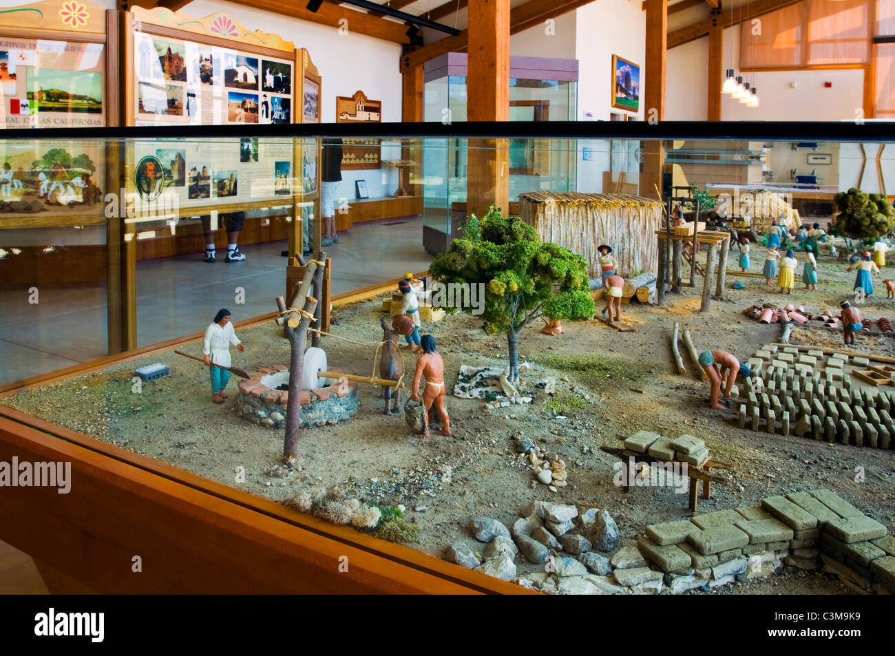 Exhibit at the visitor center La Purisma Mission State Historical Park, California - Stock Image