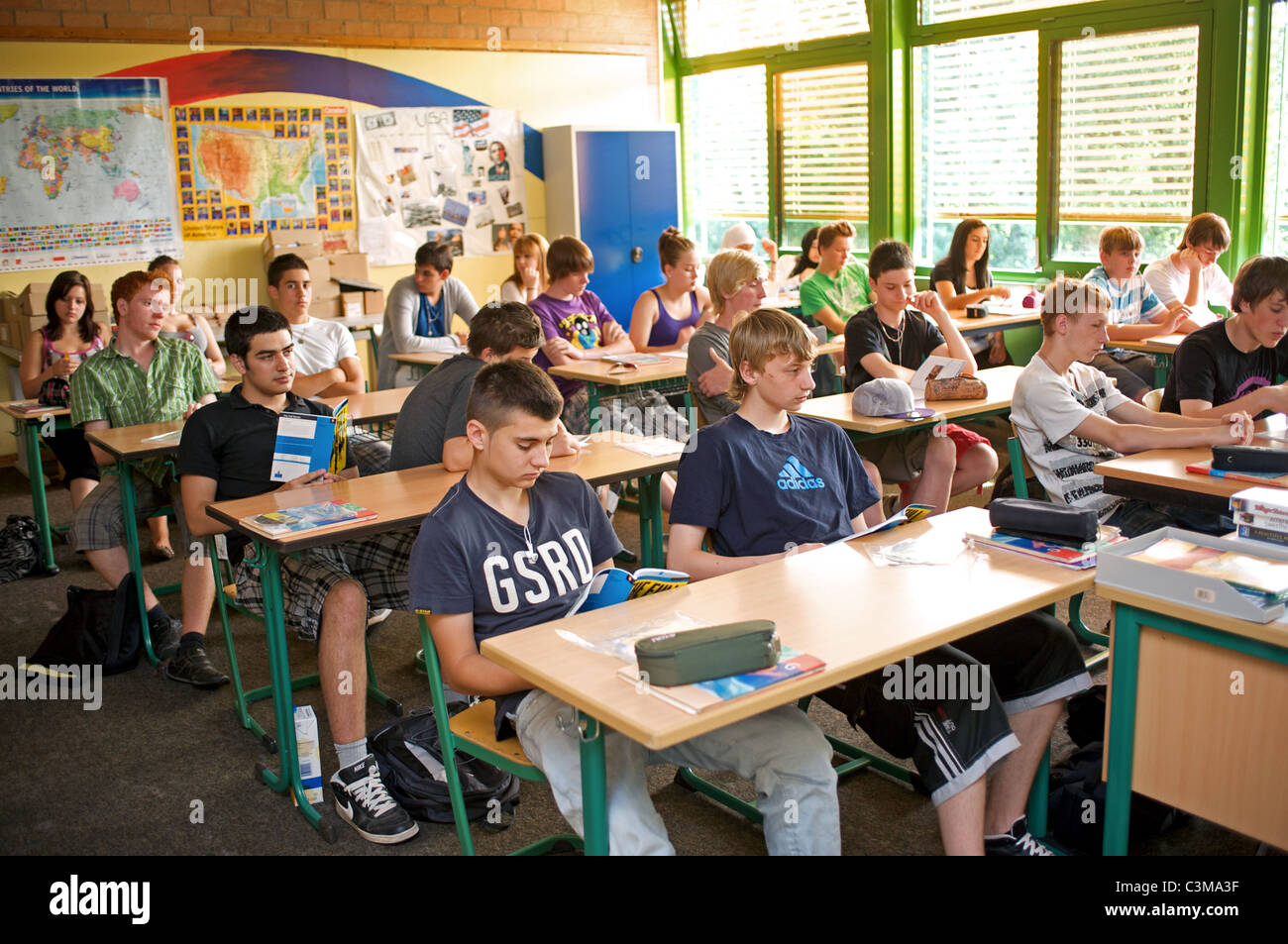 English lesson, German High school Stock Photo: 36711683 - Alamy