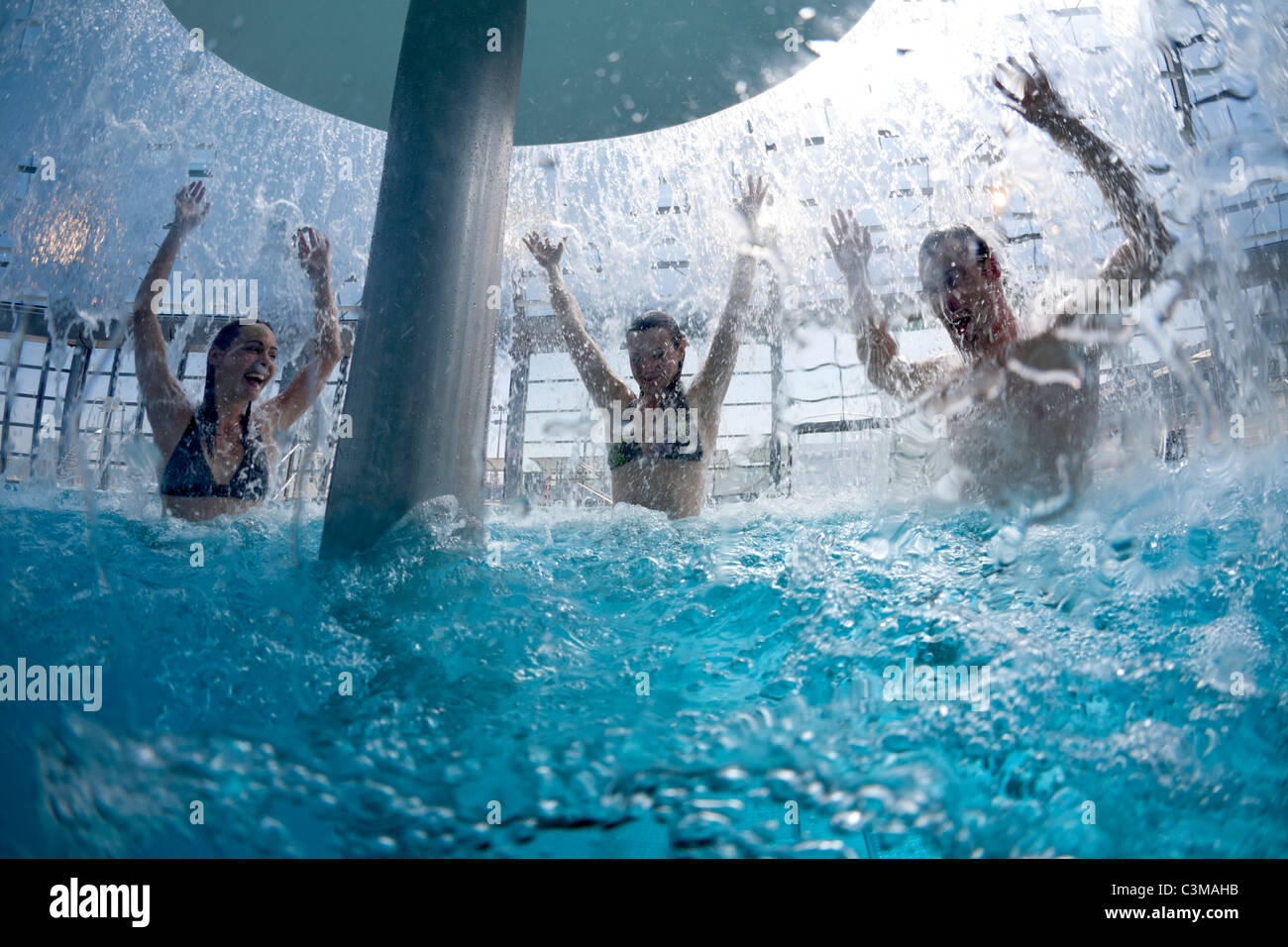 A balneotherapy session in the Vichy - Val d'Allier swimming pool (Bellerive-sur-Allier - Allier - Auvergne - Stock Image