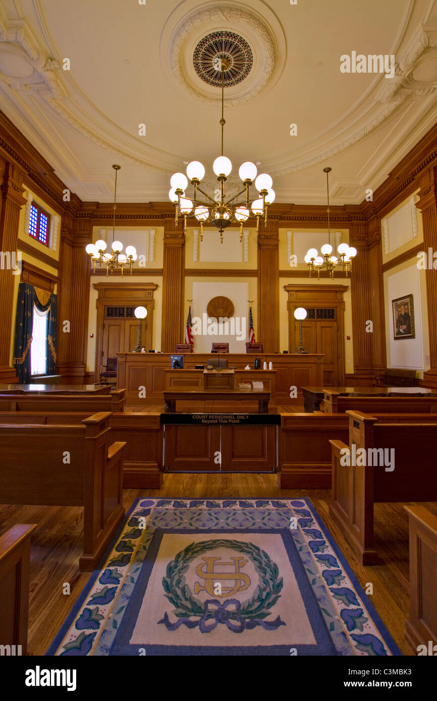 Historic Building Courtroom Court of Appeals Portland Oregon 2 - Stock Image