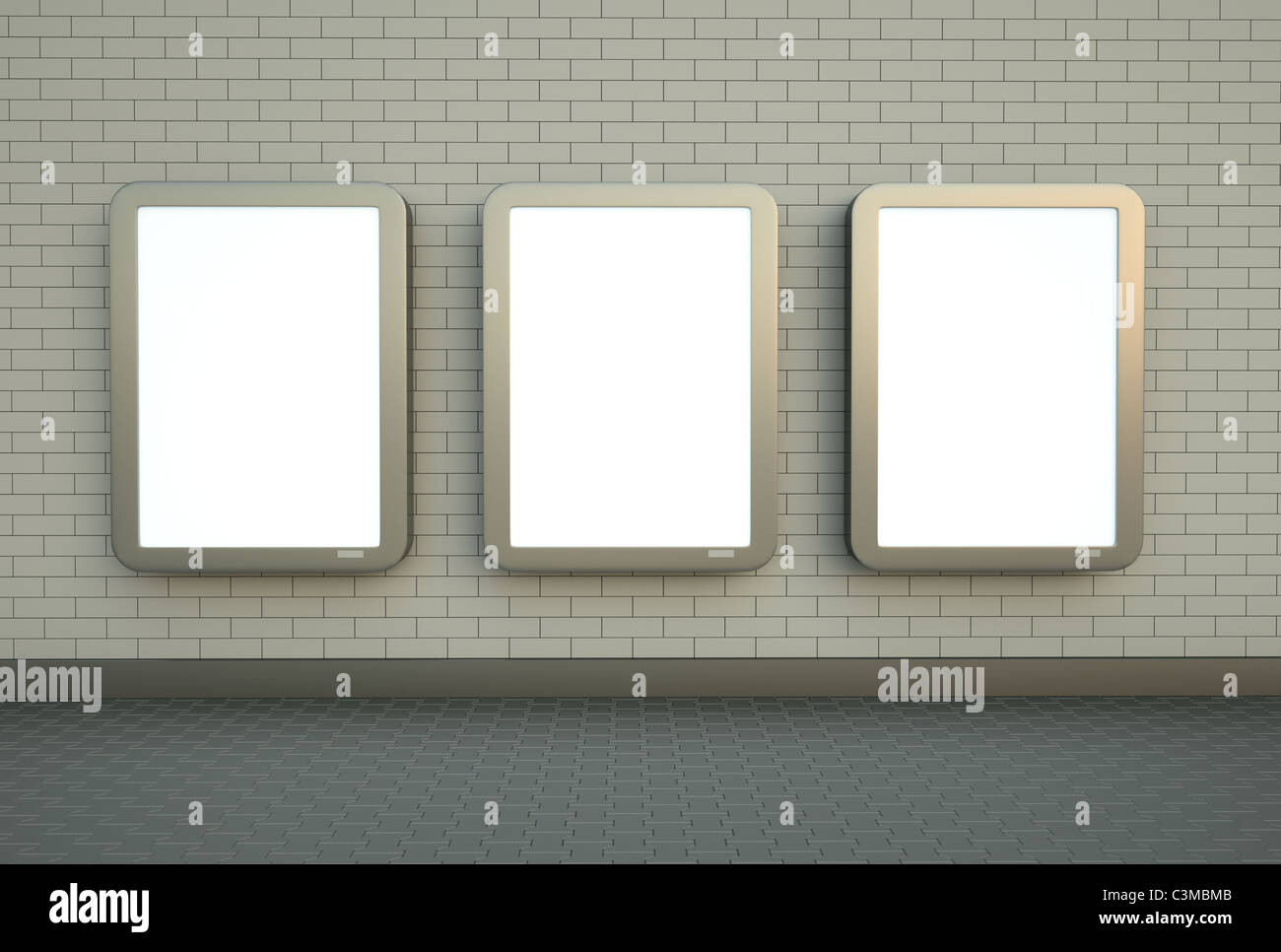 Three wall banners - Stock Image