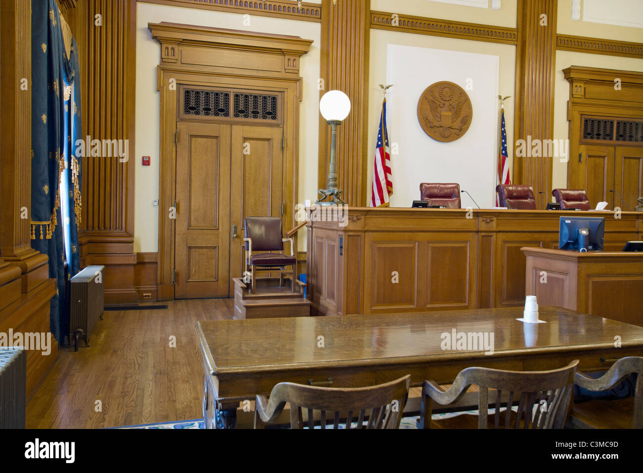Court of Appeals Courtroom in Pioneer Courthouse - Stock Image