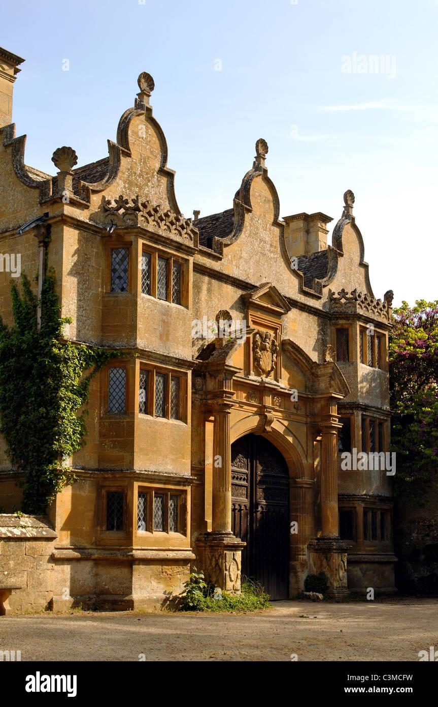 Stanway House gateway, Gloucestershire, England, UK Stock Photo