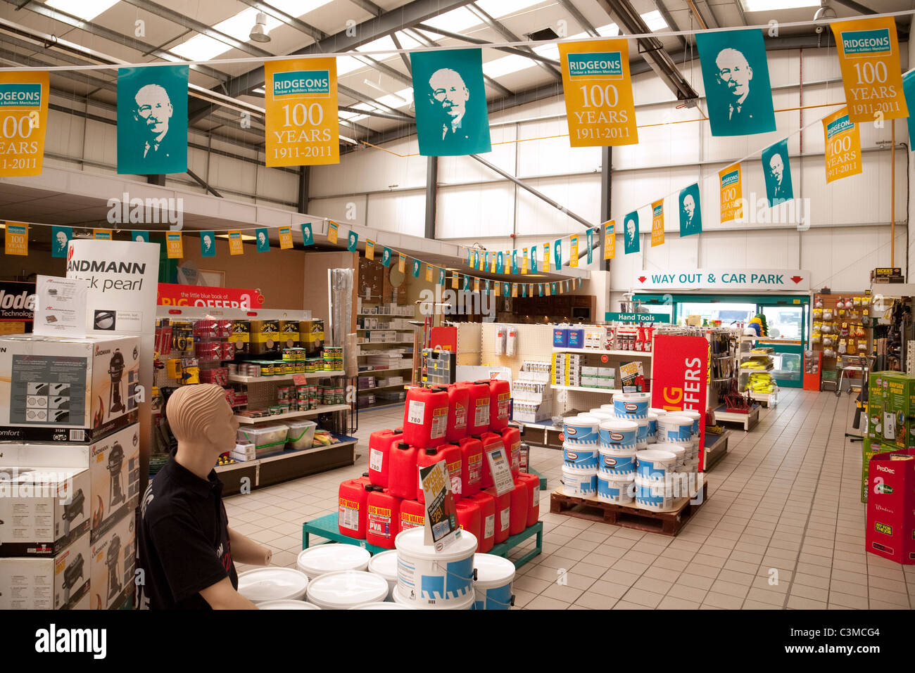 Ridgeons builders merchants store, Newmarket Suffolk UK - Stock Image
