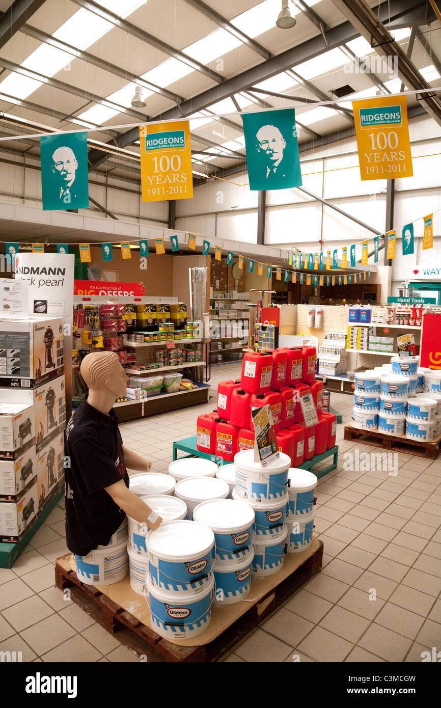 Ridgeons builders merchants store, Newmarket Suffolk UK - Stock Image