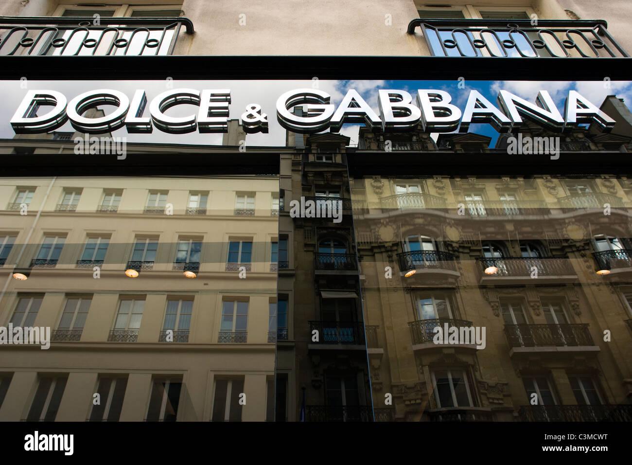Dolce & Gabbana at 6 Rue Fbg St Honoré Paris France - Stock Image