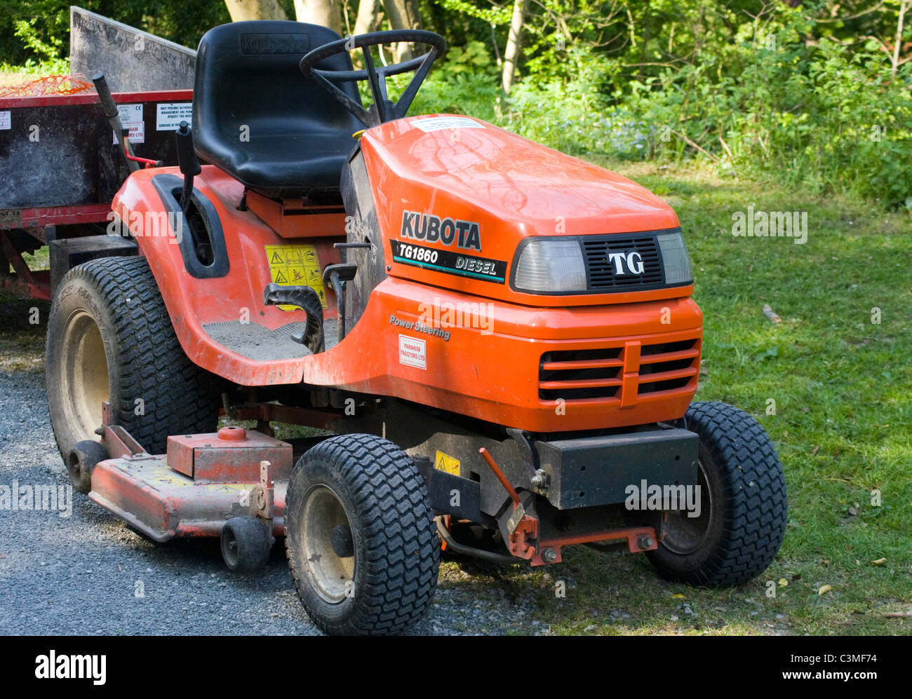 Kubota Tg Lawn Tractor Stock Photo Alamy