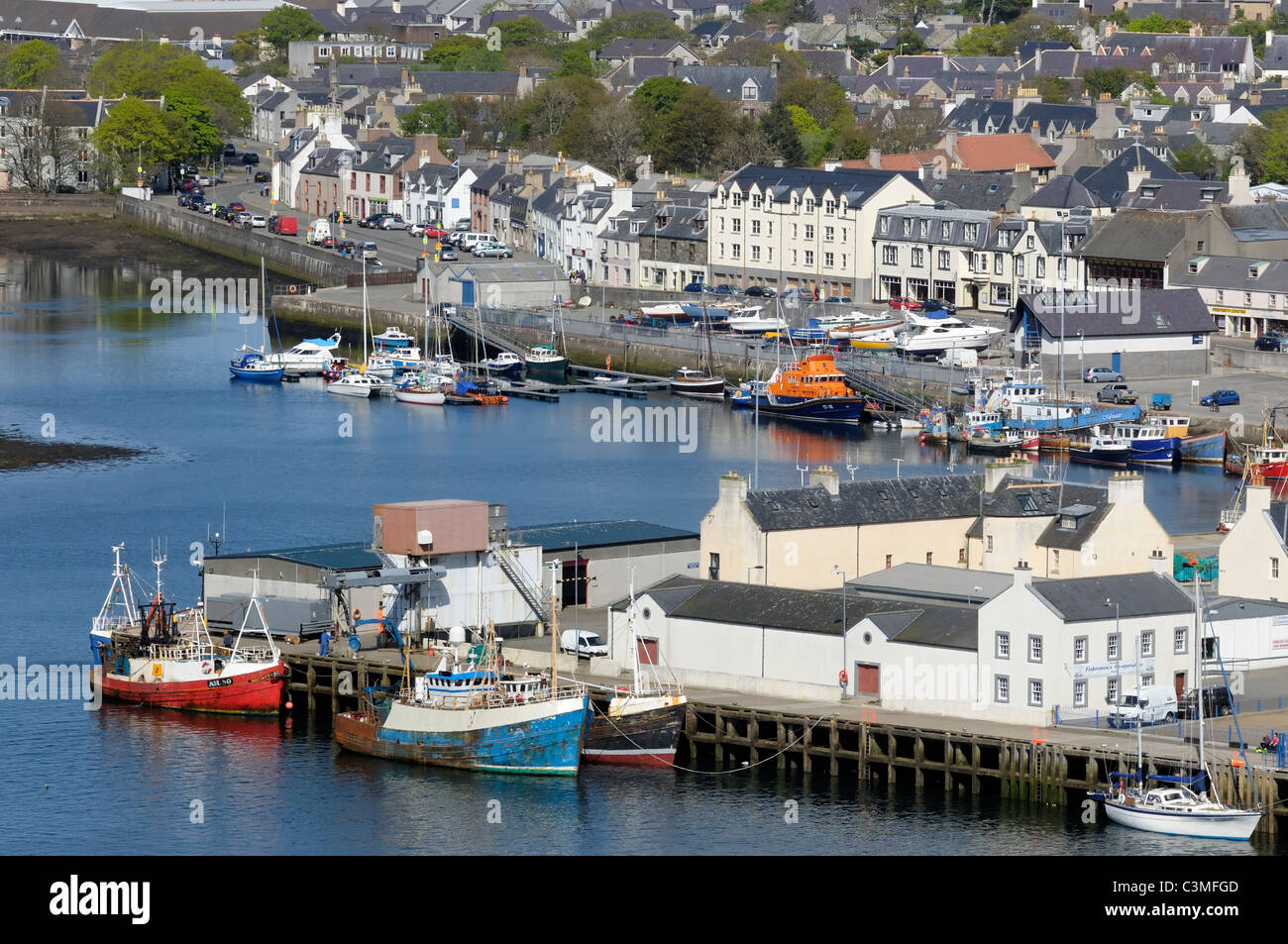 The town and harbour at Stornoway - Stock Image