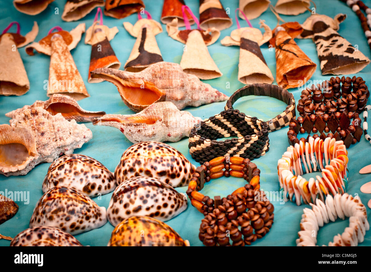 Handicrafts And Shells Sold To Visitors In Yalobi Village Waya