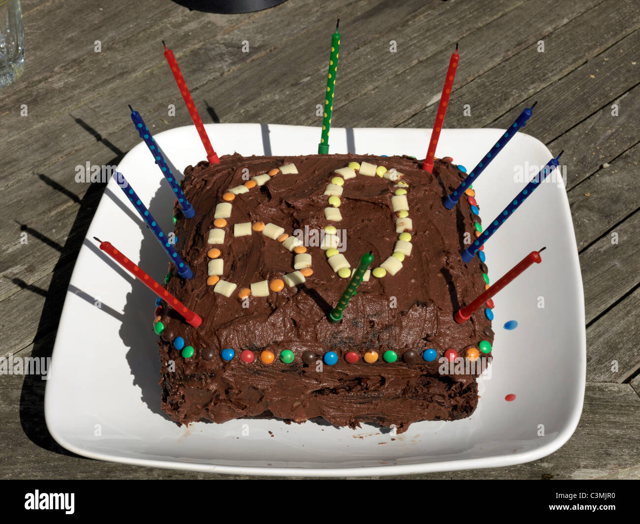 Chocolate 60th Birthday Cake With Candles