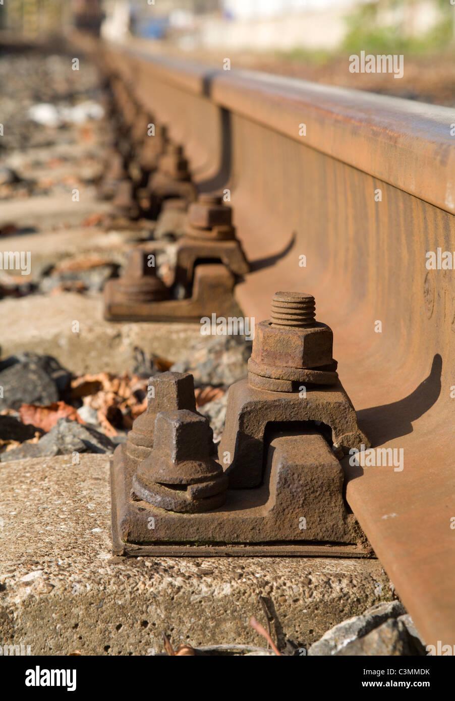 rails - detail - Stock Image