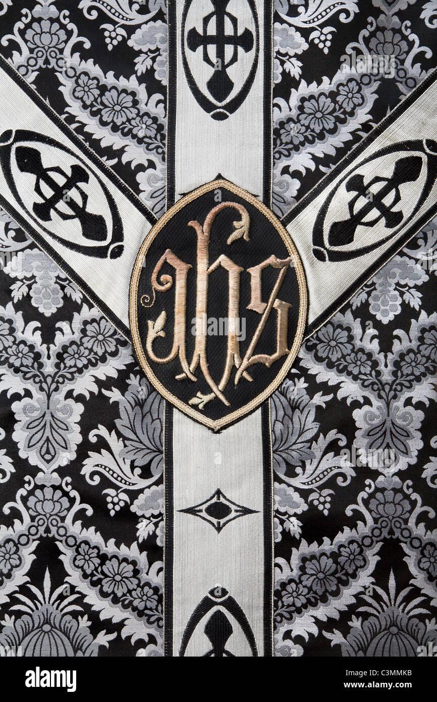 funeral vestment - cross - Stock Image
