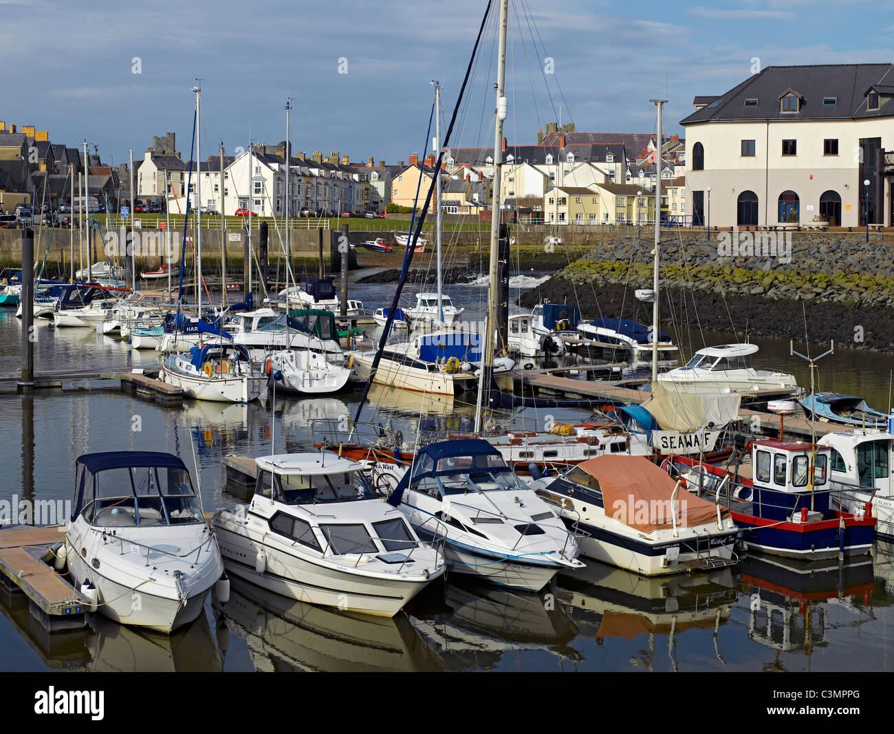 Aberystwyth Marina Cardiganshire Wales UK United Kingdom GB Great Britain - Stock Image