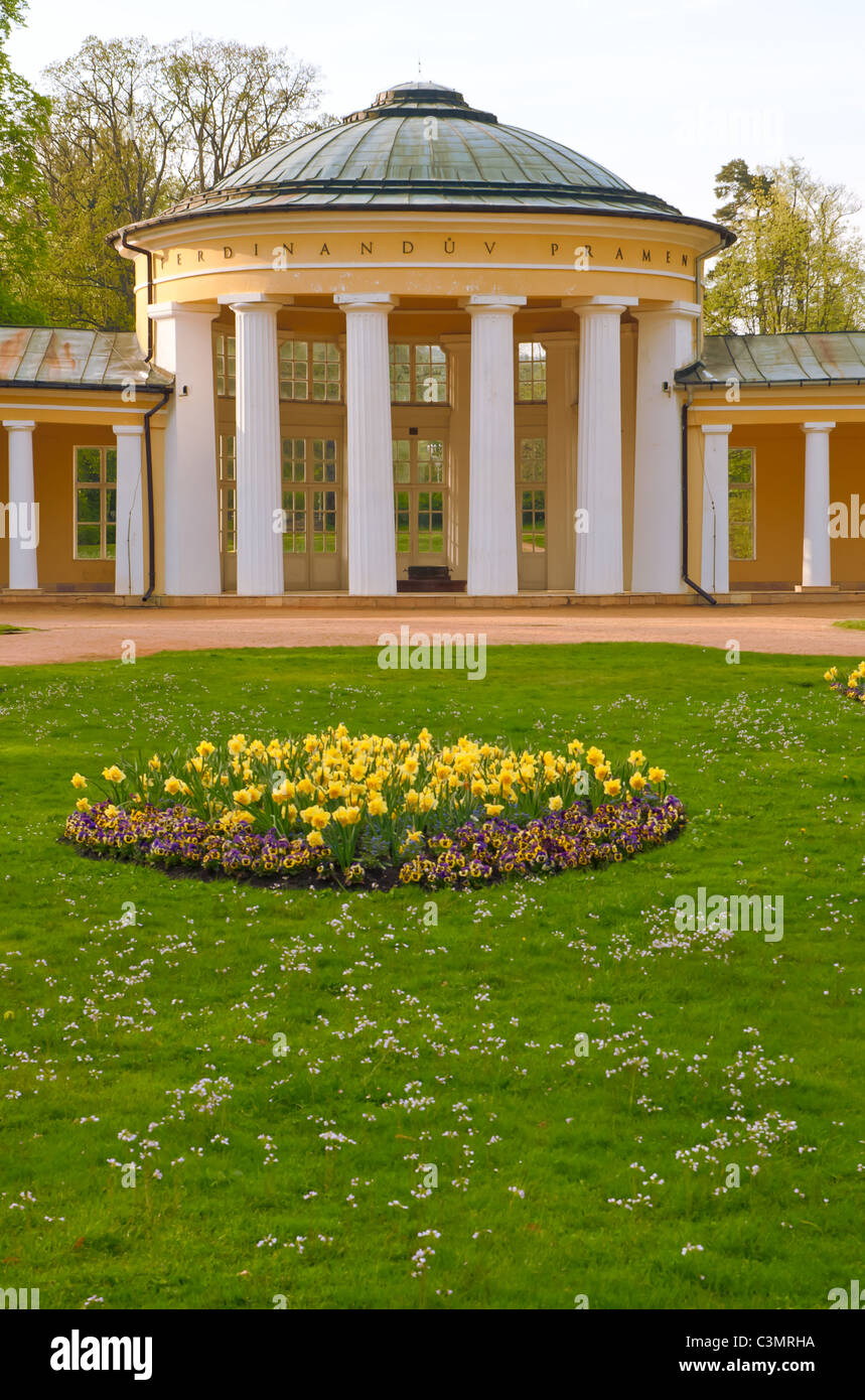 Ferdinands Spring in Marianske Lazne / Marienbad, Czech Republic - Stock Image