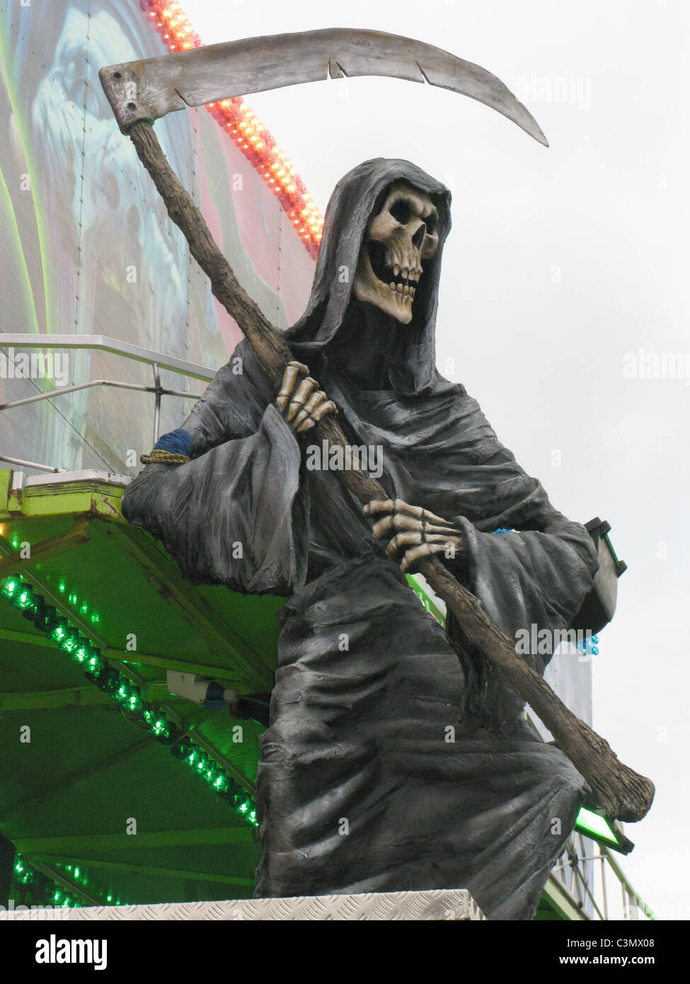 Grim reaper with Scythe - Stock Image